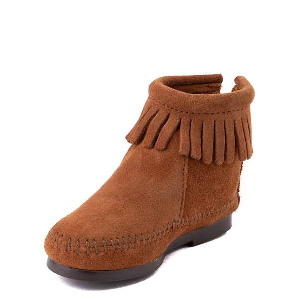 alternate view Minnetonka Back Zip Boot - Little Kid / Big Kid - BrownALT2