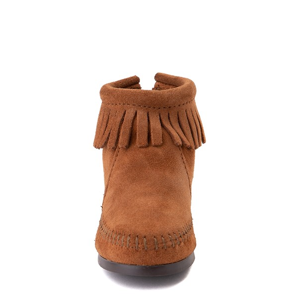 alternate view Minnetonka Back Zip Boot - Little Kid / Big Kid - BrownALT4