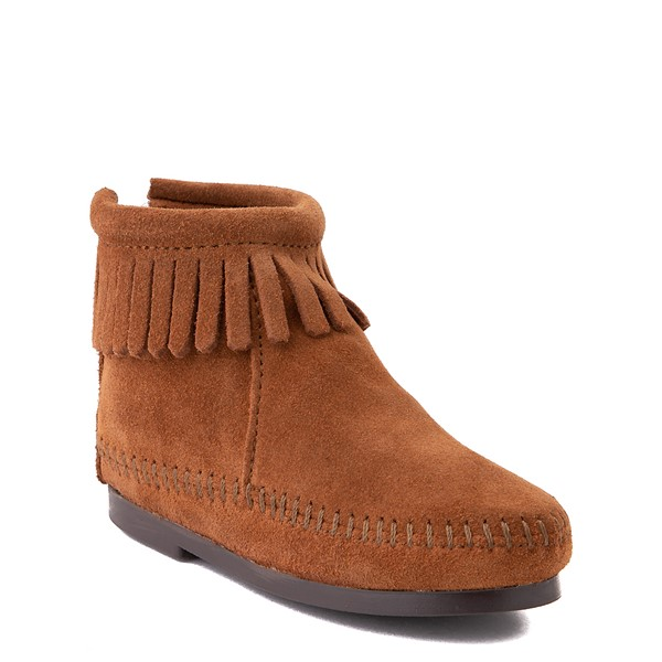 alternate view Minnetonka Back Zip Boot - Little Kid / Big Kid - BrownALT5