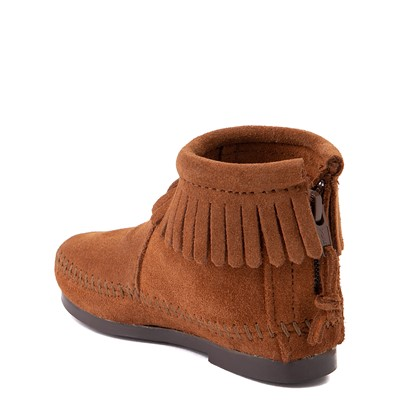 Alternate view of Minnetonka Back Zip Boot - Little Kid / Big Kid - Brown