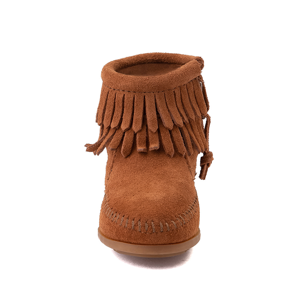 alternate view Minnetonka Double Fringe Bootie - Little Kid / Big Kid - BrownALT4