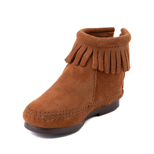 alternate view Minnetonka Back Zip Boot - Toddler / Little Kid - BrownALT2