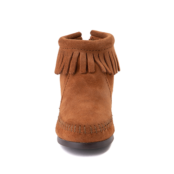 alternate view Minnetonka Back Zip Boot - Toddler / Little Kid - BrownALT4