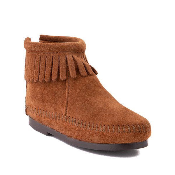 alternate view Minnetonka Back Zip Boot - Toddler / Little Kid - BrownALT5