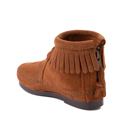 Alternate view of Minnetonka Back Zip Boot - Toddler / Little Kid - Brown