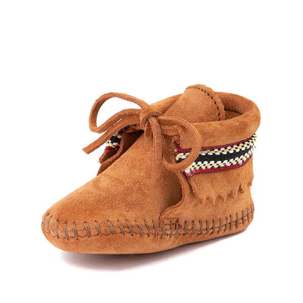 alternate view Minnetonka Braid Bootie - Baby / Toddler - BrownALT2