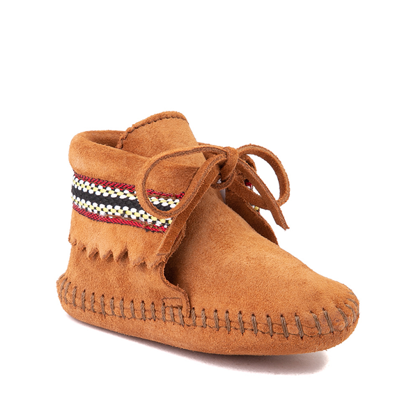 alternate view Minnetonka Braid Bootie - Baby / Toddler - BrownALT5
