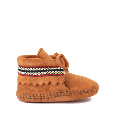 Main view of Minnetonka Braid Bootie - Baby / Toddler - Brown