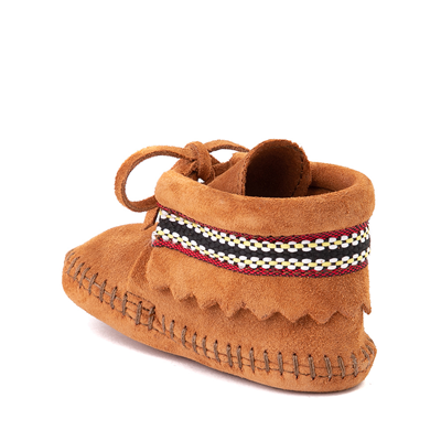 Alternate view of Minnetonka Braid Bootie - Baby / Toddler - Brown
