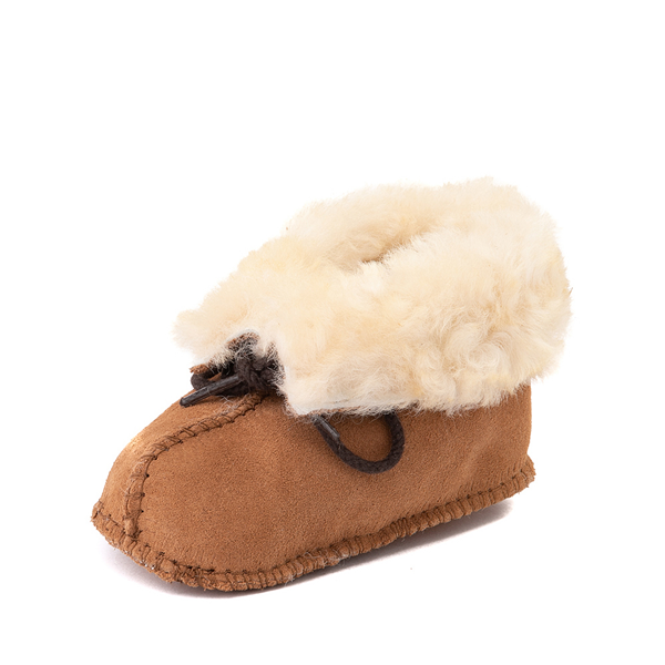alternate view Minnetonka Sheepskin Bootie - Baby / Toddler - TanALT2