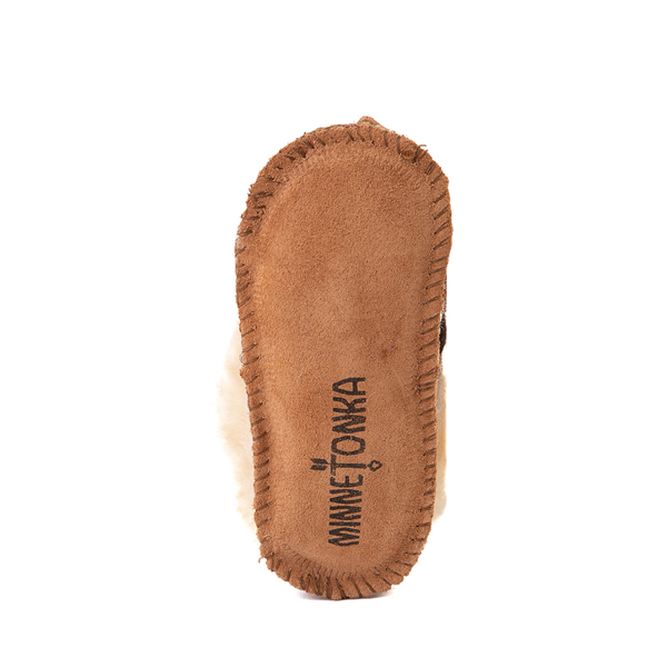 alternate view Minnetonka Sheepskin Bootie - Baby / Toddler - TanALT3