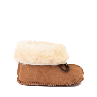 Main view of Minnetonka Sheepskin Bootie - Baby / Toddler - Tan