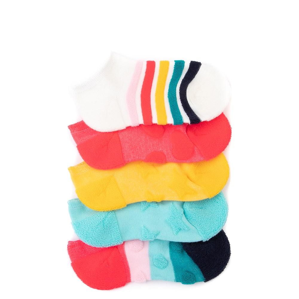 Reverse Terry Footie Socks 5 Pack - Little Kid - Multi