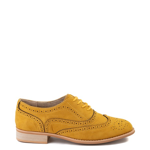 Womens Wanted Babe Oxford Casual Shoe - Mustard