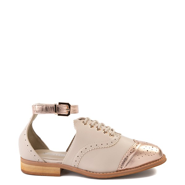 Default view of Womens Wanted Cherub Oxford Casual Shoe - Nude - Rose Gold