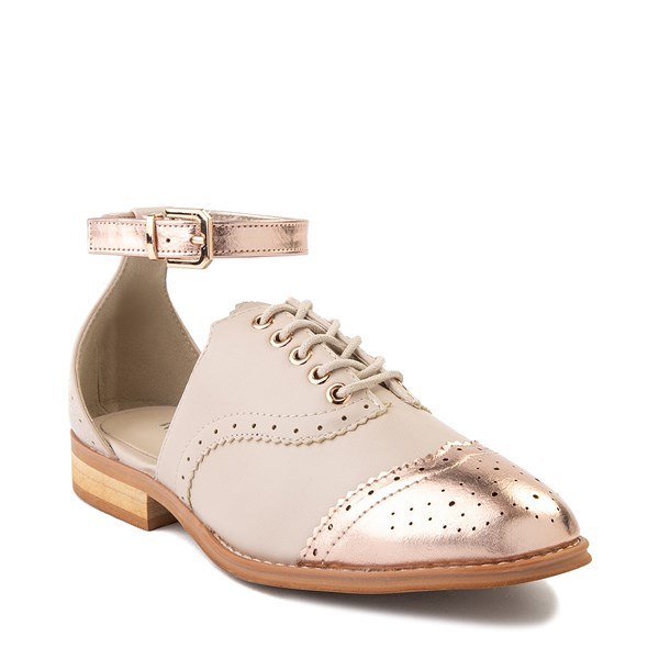 alternate view Womens Wanted Cherub Oxford Casual Shoe - Nude - Rose GoldALT1