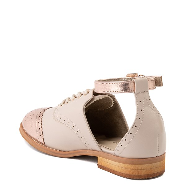 alternate view Womens Wanted Cherub Oxford Casual Shoe - Nude - Rose GoldALT2