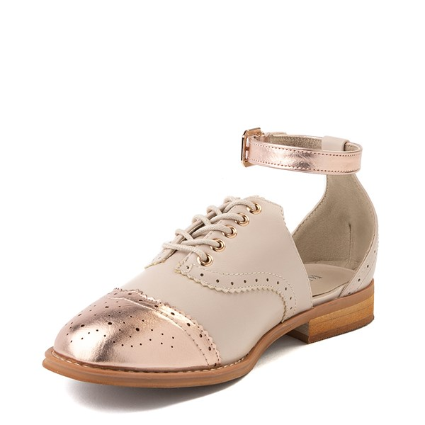 alternate view Womens Wanted Cherub Oxford Casual Shoe - Nude - Rose GoldALT3