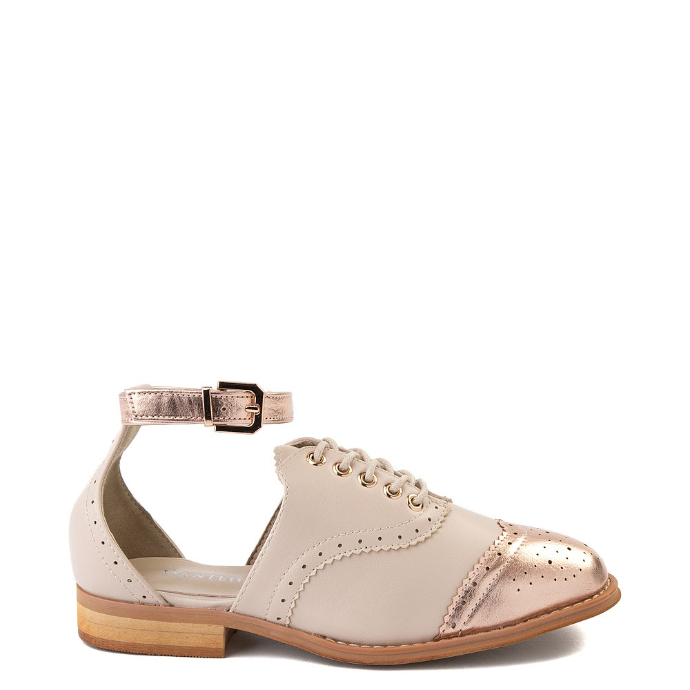 Womens Wanted Cherub Oxford Casual Shoe - Nude - Rose Gold