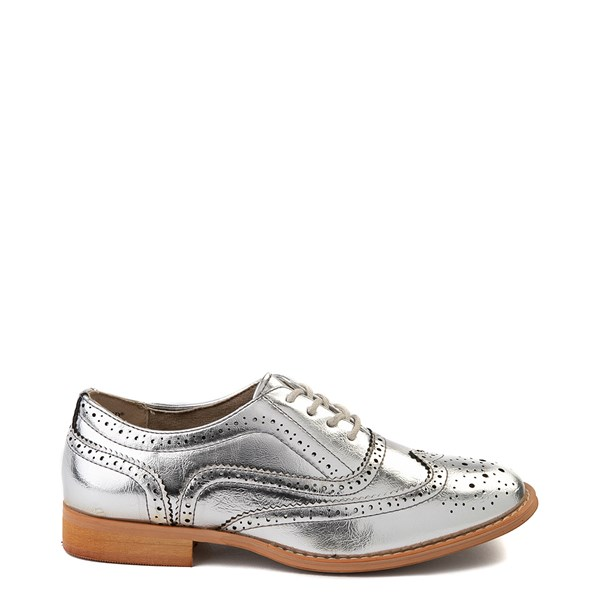 Main view of Womens Wanted Babe Oxford Casual Shoe - Silver