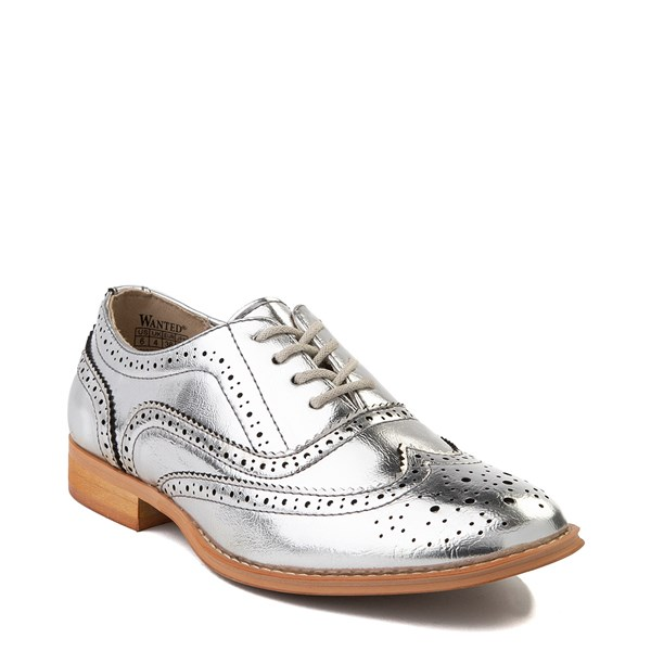 alternate view Womens Wanted Babe Oxford Casual Shoe - SilverALT1