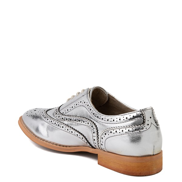 alternate view Womens Wanted Babe Oxford Casual Shoe - SilverALT2