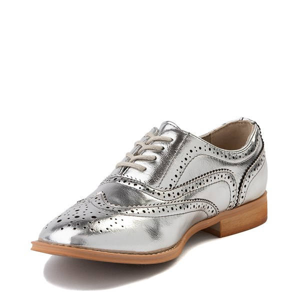 alternate view Womens Wanted Babe Oxford Casual Shoe - SilverALT3