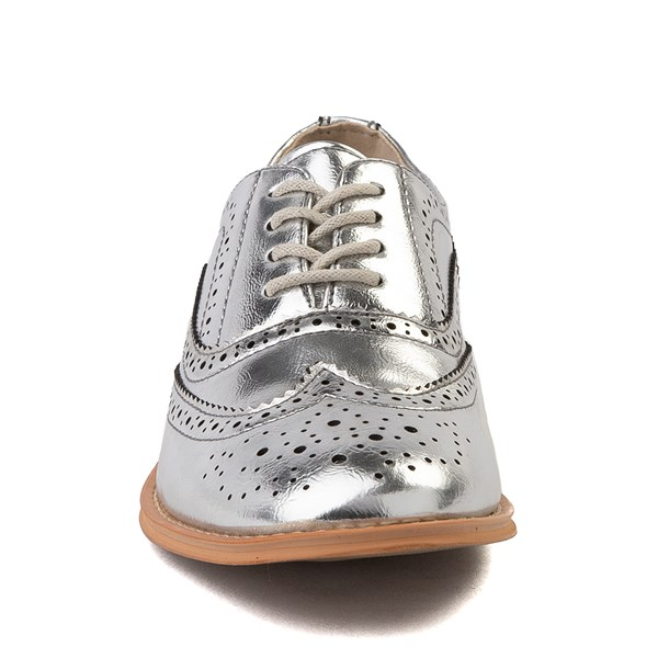 alternate view Womens Wanted Babe Oxford Casual Shoe - SilverALT4