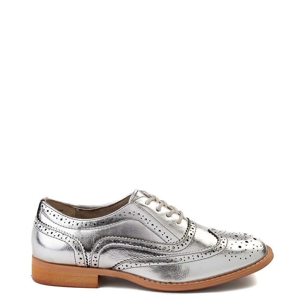 Womens Wanted Babe Oxford Casual Shoe - Silver