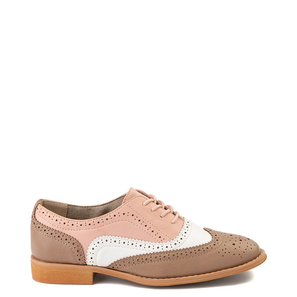 Womens Wanted Babe Oxford Casual Shoe - Taupe / White / Pink
