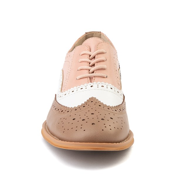 alternate view Womens Wanted Babe Oxford Casual Shoe - Taupe / White / PinkALT4