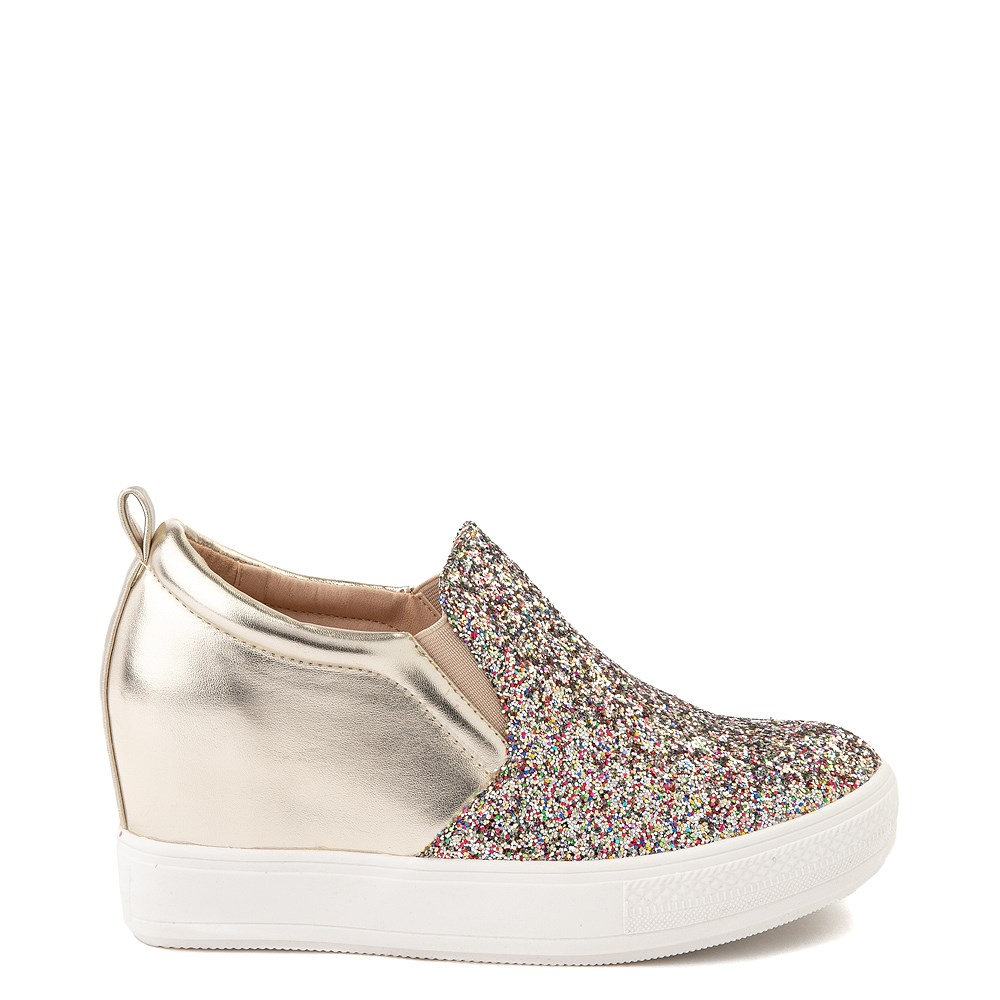 Womens Wanted Illuming Slip On Casual Shoe - Gold / Multi