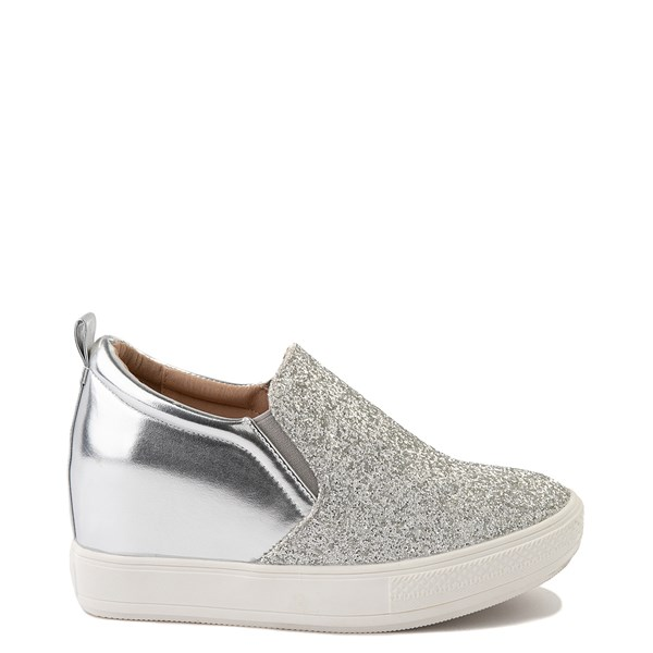 Womens Wanted Illuming Slip On Casual Shoe - Silver