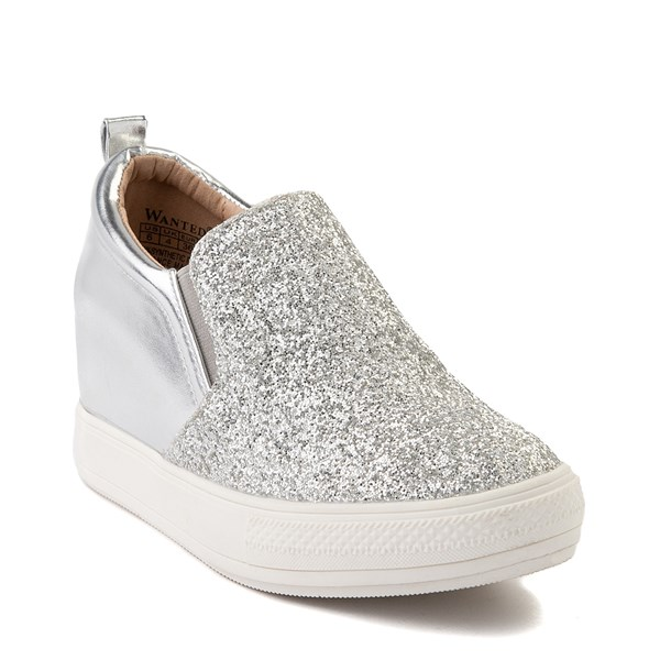 alternate view Womens Wanted Illuming Slip On Casual Shoe - SilverALT1