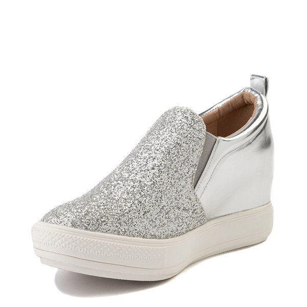 alternate view Womens Wanted Illuming Slip On Casual Shoe - SilverALT3