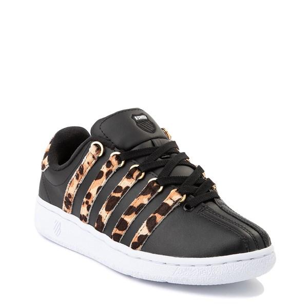alternate view Womens K-Swiss Classic VN Premium Athletic Shoe - Black / CheetahALT1