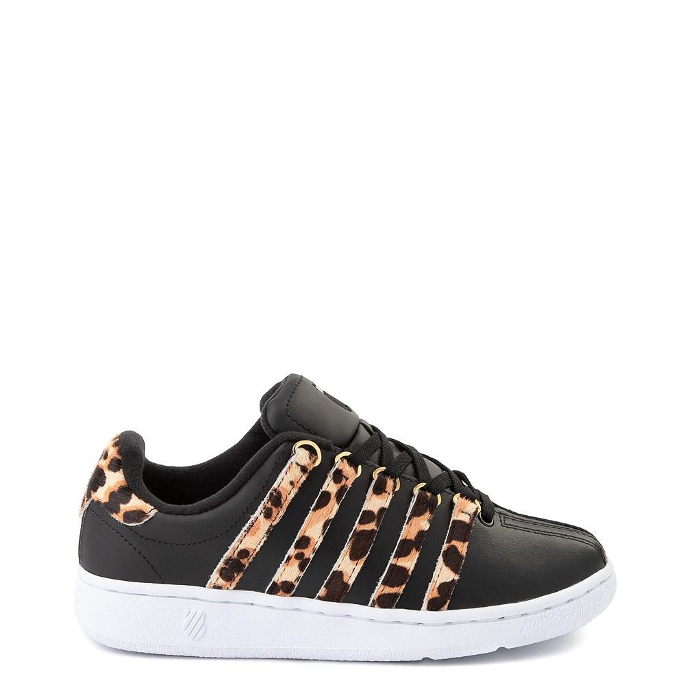 Womens K-Swiss Classic VN Premium Athletic Shoe - Black / Cheetah