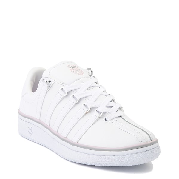 alternate view Womens K-Swiss Classic VN Premium Athletic Shoe - White / Parfait PinkALT1