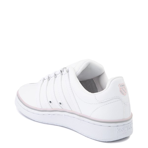 alternate view Womens K-Swiss Classic VN Premium Athletic Shoe - White / Parfait PinkALT2