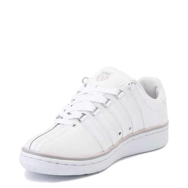 alternate view Womens K-Swiss Classic VN Premium Athletic Shoe - White / Parfait PinkALT3