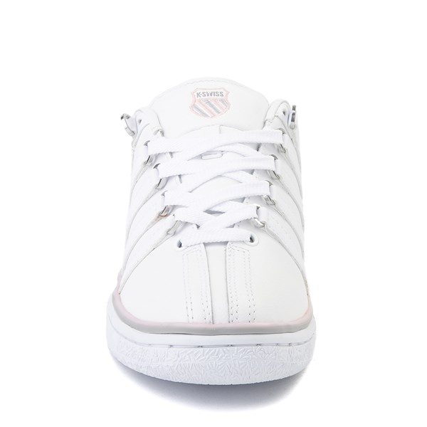 alternate view Womens K-Swiss Classic VN Premium Athletic Shoe - White / Parfait PinkALT4