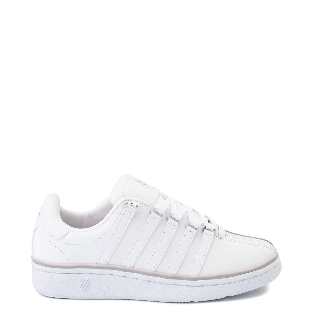 Womens K-Swiss Classic VN Premium Athletic Shoe - White / Parfait Pink