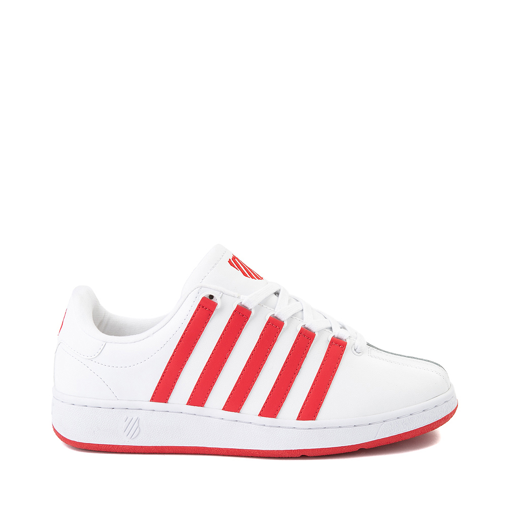 Mens K-Swiss Classic VN Heritage Athletic Shoe - White / Red