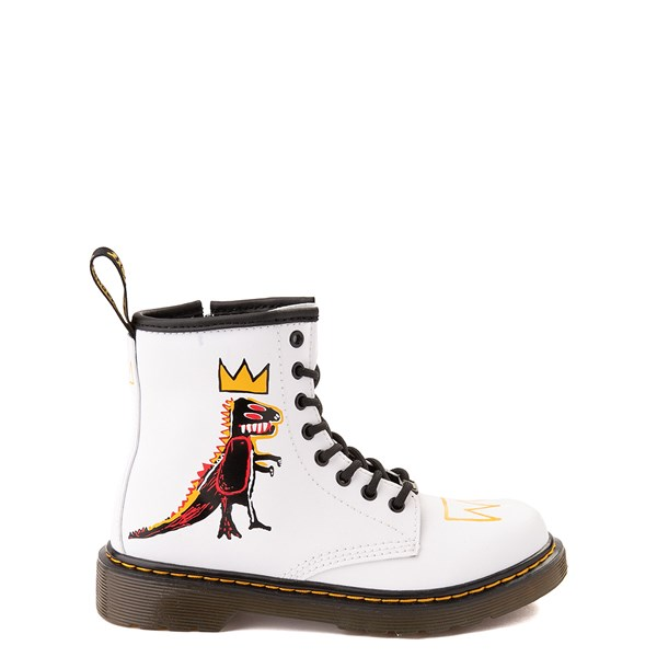Main view of Dr. Martens x Basquiat 1460 Boot - Little Kid / Big Kid - White