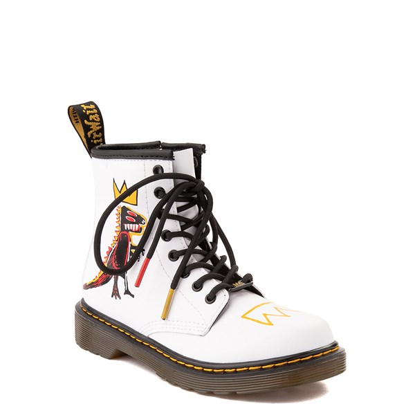 alternate view Dr. Martens x Basquiat 1460 Boot - Little Kid / Big Kid - WhiteALT1