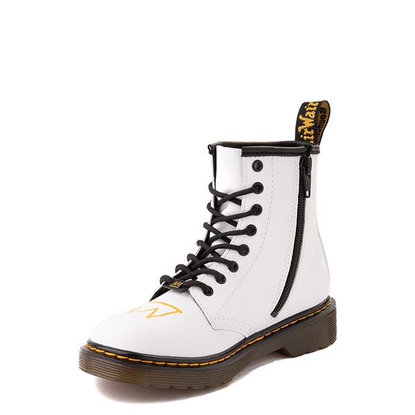 alternate view Dr. Martens x Basquiat 1460 Boot - Big Kid - WhiteALT3