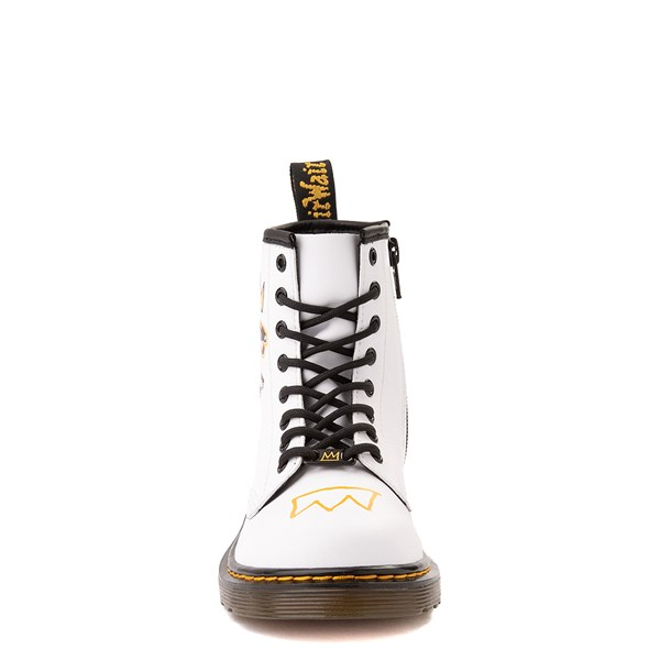 alternate view Dr. Martens x Basquiat 1460 Boot - Big Kid - WhiteALT4