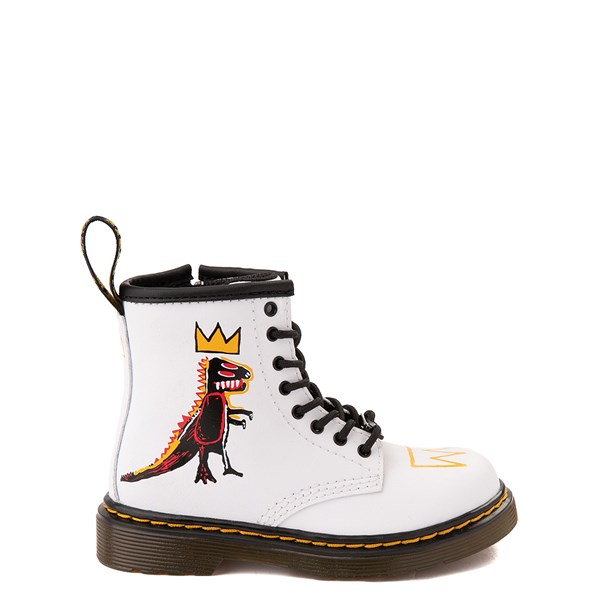 Main view of Dr. Martens x Basquiat 1460 Boot - Toddler - White