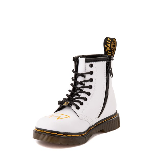 alternate view Dr. Martens x Basquiat 1460 Boot - Toddler - WhiteALT3