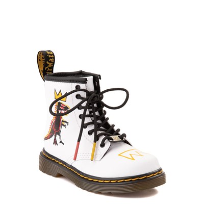 Alternate view of Dr. Martens x Basquiat 1460 Boot - Toddler - White